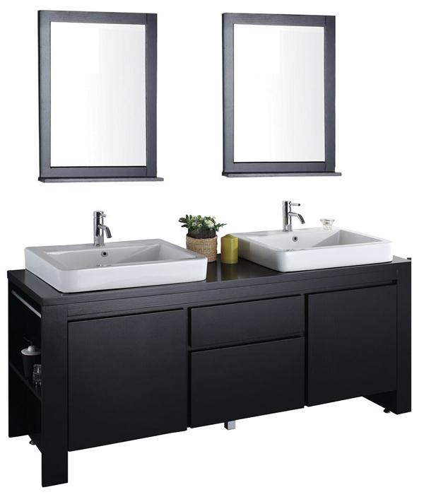 Double vanity bathroom vanities shower doors los angeles for Bathroom vanities los angeles